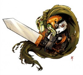 Frog__Chrono_Trigger__by_TheRagingSpaniard